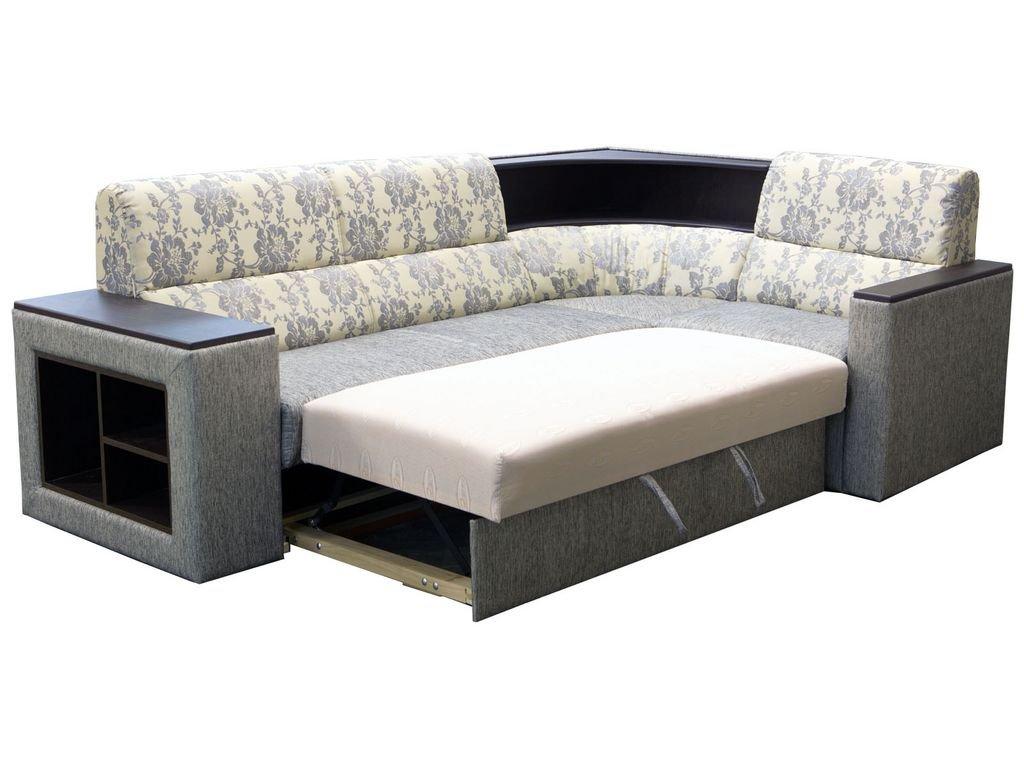 Угловые диваны с полочками