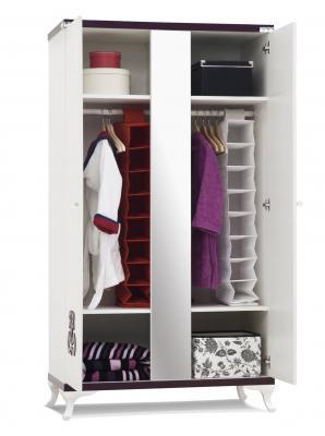 Шкаф 2-х дверный с зеркалом C100-2