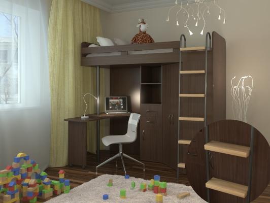 Кровать-чердак М-85-3
