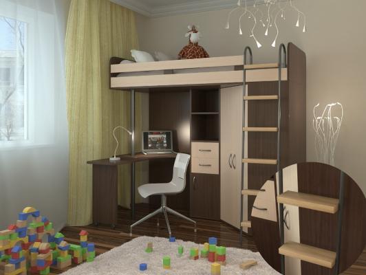 Кровать-чердак М-85-8