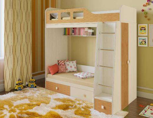 Двухъярусная кровать Астра 3-1