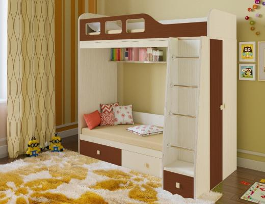 Двухъярусная кровать Астра 3-6