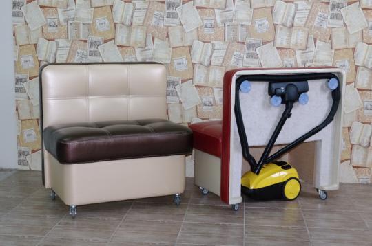Кухонный диван Токио Смарт для хранения пылесоса-5