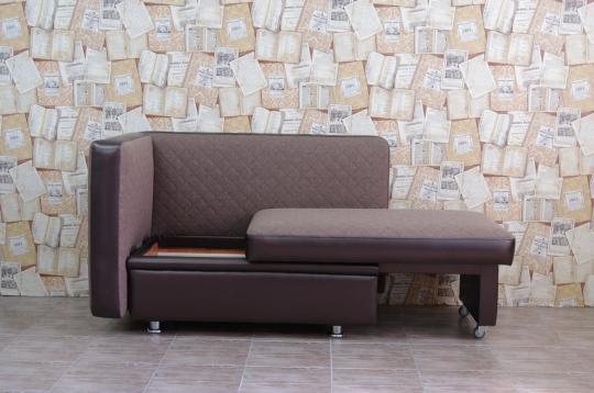 Кухонный диван Полонез с боковой стенкой и спальным местом-4