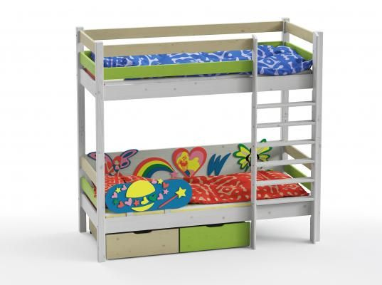 Двухъярусная кровать Wood Fantasy GSE-7082-3