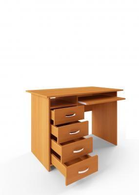 Компьютерный стол Милан-3 с полкой для клавиатуры-1