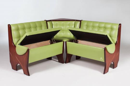 Кухонный угловой диван Серж с ящиком-1