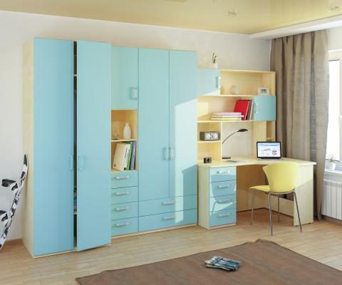 Подростковая комната Teen`s Home вариант №12-1