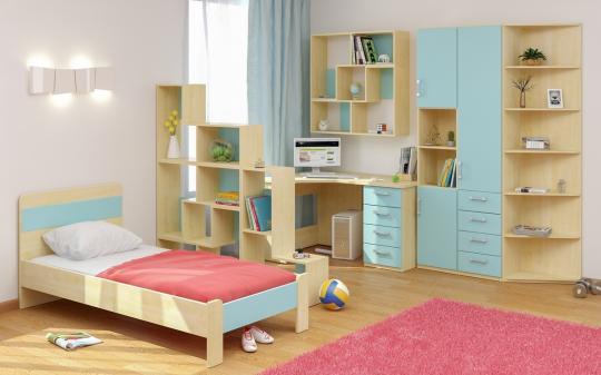 Подростковая комната Teen`s Home вариант №16-1