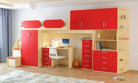 Подростковая комната Teen`s Home вариант №18-3