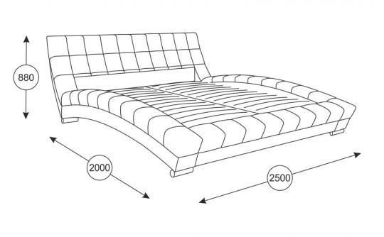 Интерьерная кровать Оливия 160 с ортопедическим основанием-5