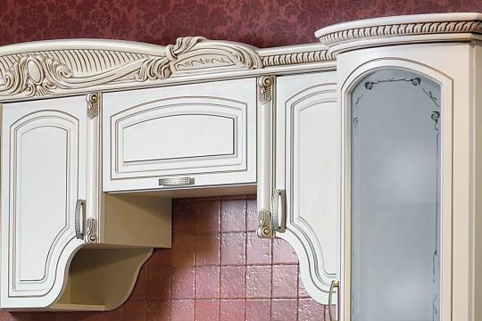 Кухня Мадлен прямая 3,60, текстура крем-1