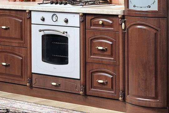 Кухня Мадлен угловая 1,44х3,70, текстура караваджо-1