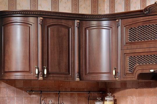 Кухня Мадлен угловая 1,44х3,70, текстура караваджо-3