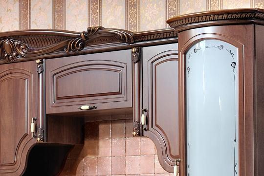 Кухня Мадлен угловая 1,44х3,70, текстура караваджо-5