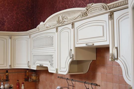 Кухня Мадлен угловая текстура крем-3