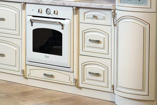 Кухня Мадлен угловая текстура крем-1