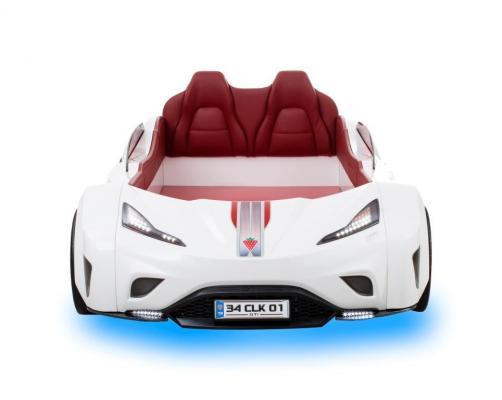 Кровать машина GTI белая CARBED 1332-2