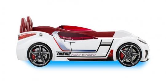 Кровать машина GTI белая CARBED 1332-1
