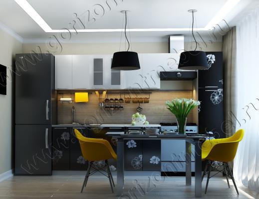 Кухня Грация глянец цветы-2