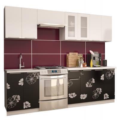 Кухня Грация глянец цветы-1