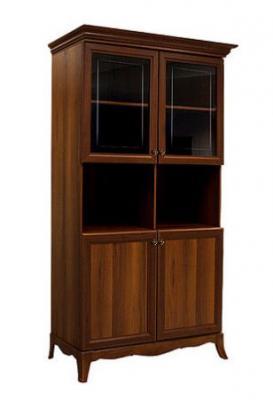 Шкаф 2-х дв. (две малые двери и два витража) на ножках АМШ2/2[4]-1