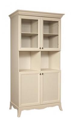Шкаф 2-х дв. (две малые двери и два витража) на ножках АМШ2/2[4]-2