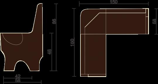 Кухонный угловой диван Серж с ящиком-10
