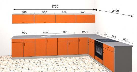 Угловая кухня Базис 35-1