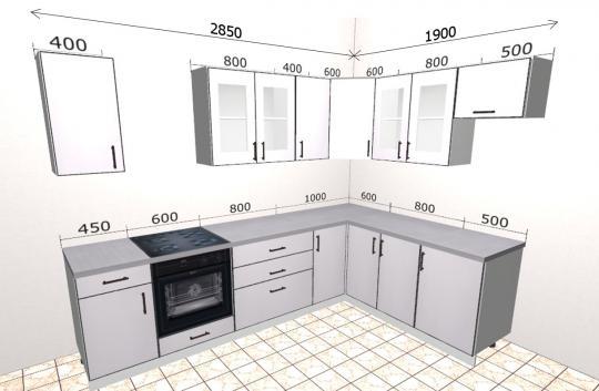 Угловая кухня Базис 39-1
