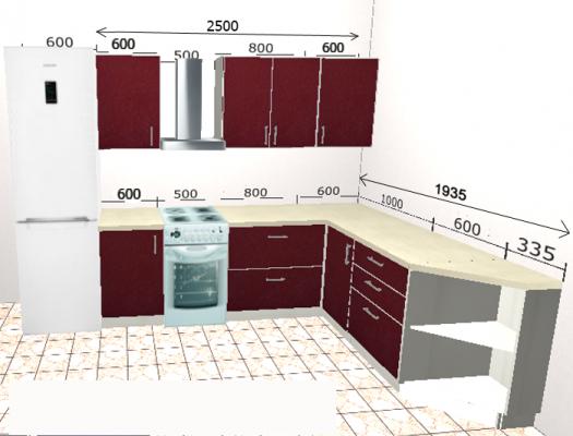 Угловая кухня Базис 40-1