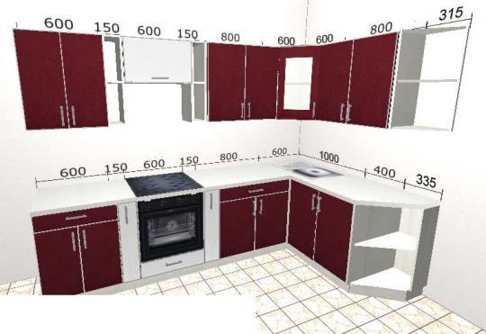 Угловая кухня Базис 43-1