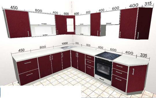 Угловая кухня Базис 44-1