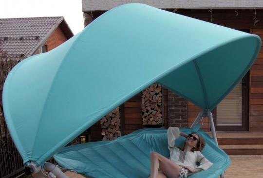 Подвесное кресло гамак ИБИЦА (цвет бирюзовый)-7