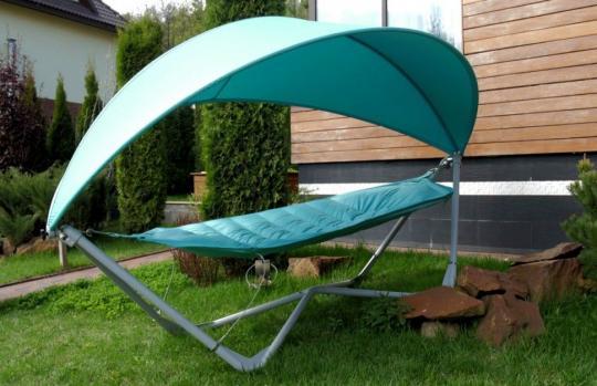 Подвесное кресло гамак ИБИЦА (цвет бирюзовый)-4