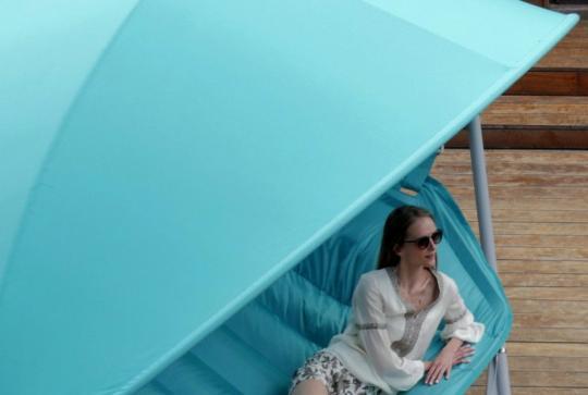 Подвесное кресло гамак ИБИЦА (цвет бирюзовый)-3
