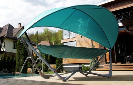 Подвесное кресло гамак ИБИЦА (цвет бирюзовый)-1