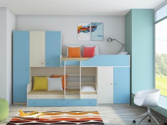 Двухъярусная кровать ЛЕО-2