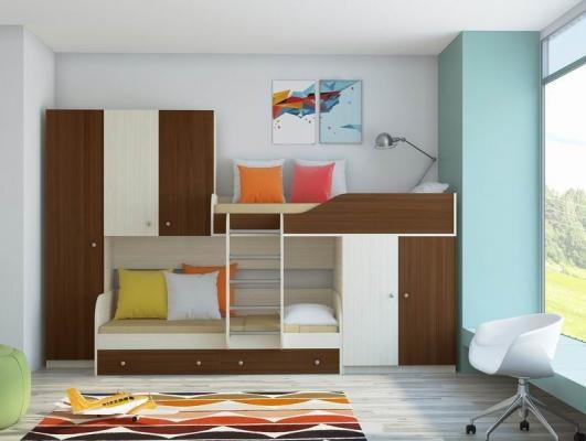 Двухъярусная кровать ЛЕО-4