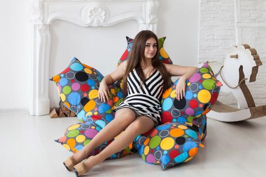 Кресло Цветок Пузырьки-3