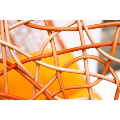 Плетеные качели KVIMOL KM 0001 средняя корзина ORANGE-4