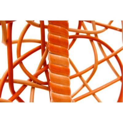 Плетеные качели KVIMOL KM 0001 средняя корзина ORANGE-7