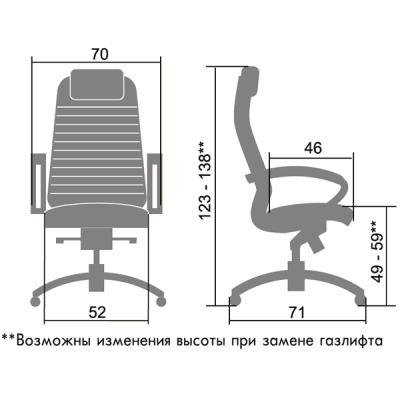 Кресло SAMURAI КL-1 Аллигатор чёрный-4