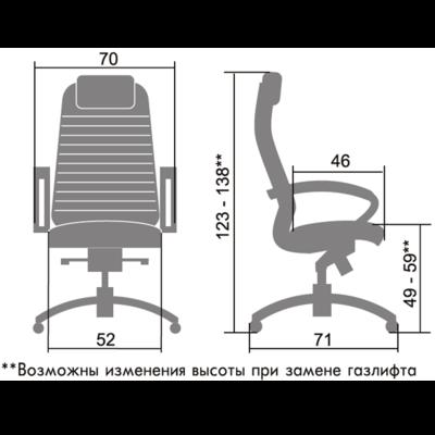 Кресло SAMURAI КL-1 PYTHON EDITION черный-1