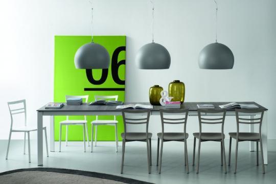 Стол металлический EMINENCE 160 сатин / серый дуб-1
