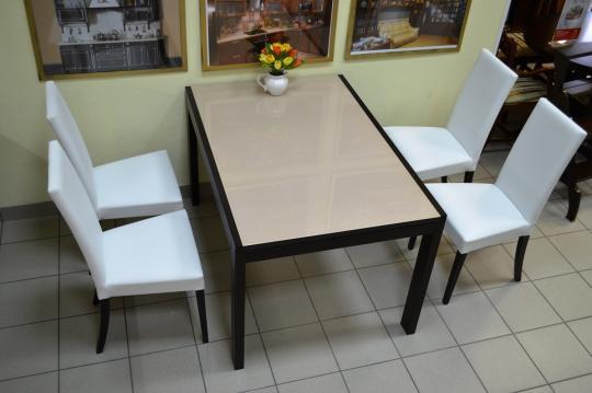 Стол деревянный NEW SMART 130 венге / капучино-1