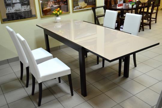 Стол деревянный NEW SMART 130 венге / капучино-2