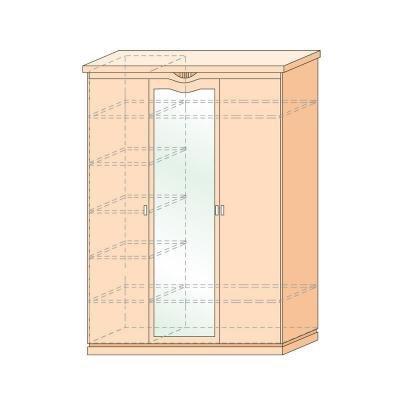 Шкаф трехдверный Сьюзан-1
