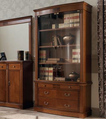 Библиотека (книжный шкаф) Panamar 825.001 + тумба 835-1