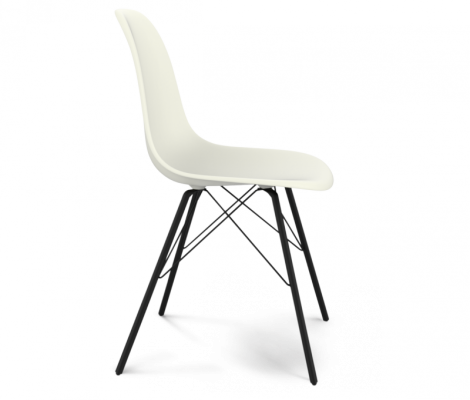 Стул Sheffilton SHT-S37 белый / черный муар-1
